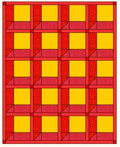 Attic Windows Quilt Top Layouts - the easy way to make it