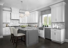 Simple and elegant, this kitchen was wonderfully designed by LaFata Cabinets!