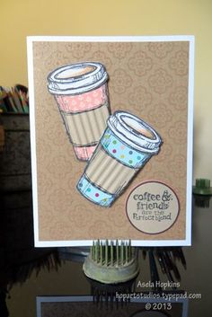 Stampin' Up! Perfect Blend Friends and Coffee Card