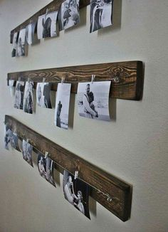 Reclaimed wood + Ikea clips + heavy string
