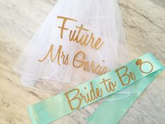 Veil is approx 25x 58 white tulle with marrow edge finish comes with attached hair comb the word Future is 8-10 wide the Mrs. Lastname is 10-14