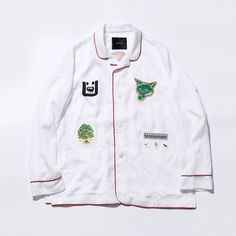 """#UNDERCOVER Men's 2017 Spring/Summer """"IMPROVISATION CONCEPTS"""" pajama jacket in white exclusive to UNDERCOVER ROPPONGI HILLS, arriving this Saturday, also available in Black exclusive to District UNITED ARROWS. #アンダーカバー"""