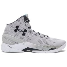 Under Armour Men's UA Curry Two Basketball Shoes (14275 RSD) ❤ liked on Polyvore featuring men's fashion, men's shoes and aluminum