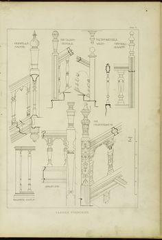 Various staircases.  1902