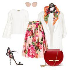 """floral print"" by elitstil on Polyvore featuring Sea, New York, River Island, Dolce&Gabbana, Sophia Webster, Topshop, Valentino and Angela Valentine Handbags"
