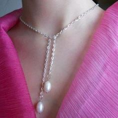 Lariat with natural pearls. Can be worn as a bracelet!