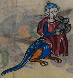Detail from medieval manuscript, British Library Stowe MS 17 'The Maastricht Hours', f160v
