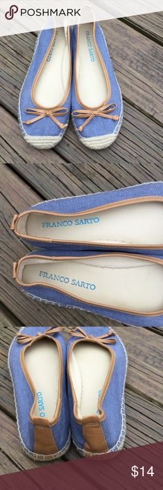 Franko Sarto flats Has bows in the front good condition no flaws Franco Sarto Shoes Flats & Loafers