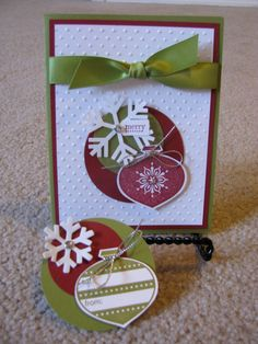 Handmade Christmas Cards and Gift Tags by Heathergue on Etsy, $50.00