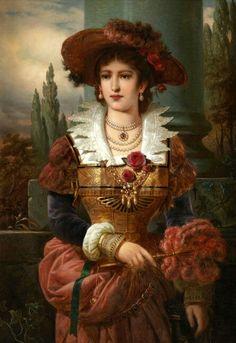 Художник Franz Russ(1844-1906)  Франц Russ - младший был австрийский художник, который родился в 1844 году. К сожалению,информации о творчестве художника крайне мало. Художник умер в 1906 году. Его многочисленные работы продаются на аукционах мира за большие суммы.