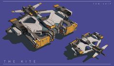 Some space ships done for david s online hard surface class.