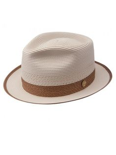 Take a look at our Stetson Latte - Straw Fedora Hat made by Stetson Dress Hats as well as other fedora hats here at Hatcountry. Mens Straw Hats, Straw Fedora, Fedora Hat, Hats For Men, Hat Men, Bowler Hat, Mens Dress Hats, Popular Hats, Dope Hats