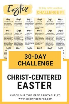 Celebrate a Christ-Centered Easter by reflecting Jesus' death and resurrection. + 2 FREE 30-day Easter scripture challenges #easter #devotion #Christian #Christiandevotion #ChristCenteredEaster #ScriptureWriting