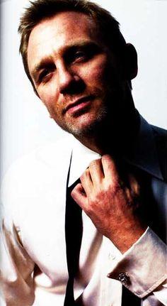 Daniel Craig- hey, is he smiling?