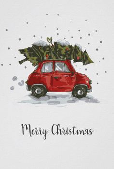Retro Car Christmas Tree Poster Christmas by JunkyDotCom - Cute funny little red .Retro Car Christmas Tree Poster Christmas by JunkyDotCom - Cute funny little red . - Car Christmas cute funny JunkyDotCom The simple Christmas Tree Poster, Christmas Car, Christmas Wall Art, Christmas Drawing, Retro Christmas, Christmas Balls, Christmas Tree Background, Christmas Phone Backgrounds, Christmas Place