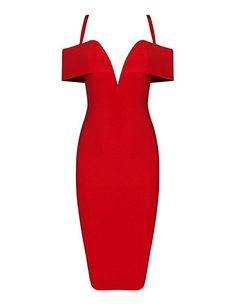 Maketina Sexy Spaghetti Strap Midi Length Women Evening Club Bodycon Bandage Pencil Dress Red M *** Check this awesome product by going to the link at the image. (This is an affiliate link) Date Night Dresses, Birthday Dresses, Pencil Dress, Sexy Dresses, Spaghetti, Summer Outfits, Cold Shoulder Dress, Bodycon Dress, Fashion Outfits