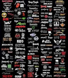 Gonna get a shirt like this with a lot of band names on the back!