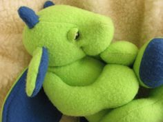 Sleepy Baby Dragon Plush PDF Sewing Pattern. Now available with Night Rider in Duo package, too cute!