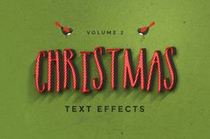 Christmas Text Effects by Zeppelin Graphics on Creative Market ~ Merry Christmas 2017 Merry Christmas 2017, Christmas Text, Christmas Fonts, Christmas Background, Christmas Design, Xmas, Christmas Ideas, Christmas Cards, Christmas Decorations