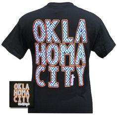 Girlie Girl Originals OKC Oklahoma City Thunder Logo Bright T Shirt