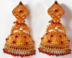 Beautiful Jhumkas from temple collection