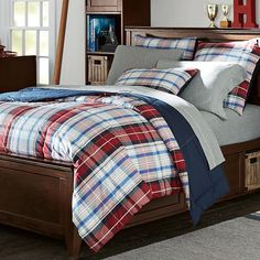 Portsmith Plaid Comforter + Sham | PBteen