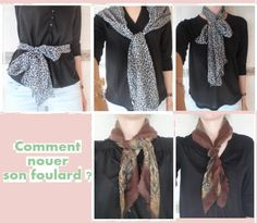 #recycler #chute #tissus #foulard #comment #nouer