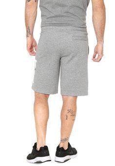 da56f54476 Bermuda Moletom Nike Sportswear Reta Lettering Cinza