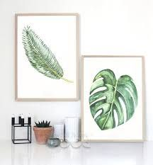 Watercolor Tropical Leaf Canvas Art Print Poster, Wall Pictures for Home Decoration, Giclee Wall Decor Wall Canvas, Canvas Frame, Canvas Art Prints, Images Murales, Modul Sofa, Home Pictures, Wall Pictures, Cheap Paintings, Poster Wall