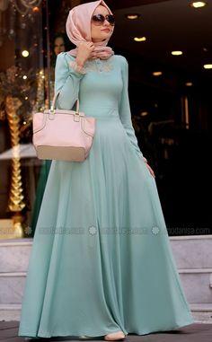 Turkish Hijab Dresses in Fashion For 2015 - hijabiworld