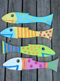 Hand painted whimsical fish by JustFish on Etsy, $15.00
