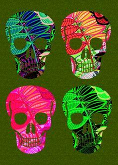 skull - TAPI! LOS COLORES DE ESTE NO SON ASÍ! se ven fluo al convertir en jpg y subir a la web. pero es muy lindo i swear!