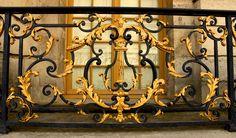 Palace of Versailles, December 2012 Steel Stair Railing, Interior Stair Railing, Steel Stairs, House Staircase, Staircase Railings, Staircases, Iron Gates, Iron Doors, Black Smith