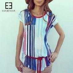#summershirt #designershopsk #pruhovanetricko #namornickyvzor #evabenovafashion Personal Shopping, Must Haves, Peplum, Tops, Women, Fashion, Moda, Fashion Styles, Veil