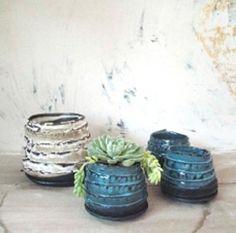 Basalt strip planter sml and medium Ceramic Planters, Planter Pots, Contemporary Ceramics, Back Gardens, Stoneware, Container, Plants, Handmade, Google Search