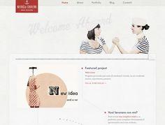 Michela Chiucini | Online Portfolio & Personal Website #webdesign #inspiration #simple