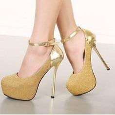 ihomecoming.com SUPPLIES Enticing Ankle Sequin  Platform Heels Pumps (4)