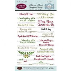 JustRite Stamps: Mix and Match Christmas Blessings Clear Stamps