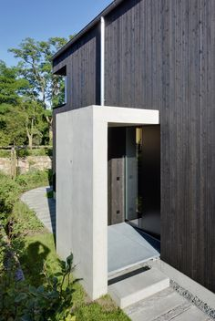 German holiday home with black-painted exterior