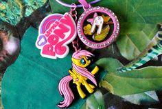 Fluttershy Inspired My Little Pony Living Charm Locket, Jewellery, Kawaii, MLP Cosplay, Friendship Is Magic, Lolita, Floating Charm Lockets