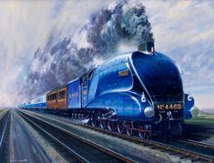 Mallard Train, Union Of South Africa, Foto Top, Flying Scotsman, National Railway Museum, Steam Railway, Train Art, Old Trains, British Rail