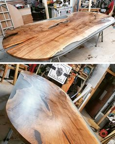 Woah! Check out this whopper of a table. Featuring a live edge and smoke grey resin.  Finished with Osmo Polyx-Oil Satin Oil.  Project by @thebeardedjoineruk
