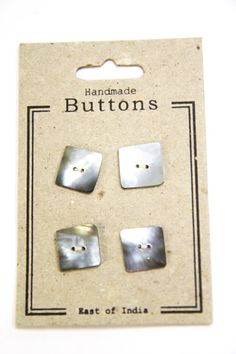 Large Shell Square Buttons