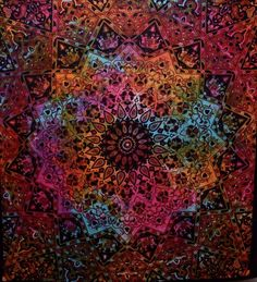 Tie Dye Elephant Star Bohemian Mandala Wall Hanging Tapestry Boho Decor Dorm - Free Shipping Description: Mesmerizing mandala tapestry crafted in soft woven cotton from Magical Thinking. Instantly add