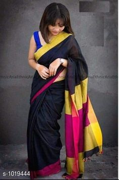 Sarees  Attractive  Khadi Cotton Sarees   *Fabric* Saree - Khadi Cotton, Blouse - Khadi Cotton  *Size* Saree Length - 5.5 mtr , Blouse Length - 0.8 mtr  *Work* Woven & Border  *Sizes Available* Free Size *   Catalog Rating: ★4 (1768)  Catalog Name: Rheyali Solid Khadi Cotton Sarees With Tassels And Latkans CatalogID_122952 C74-SC1004 Code: 174-1019444-