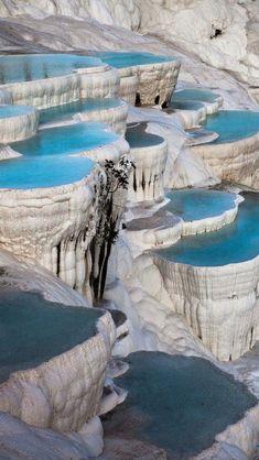 Natural Rock Pools, Pamukkale Turkey.