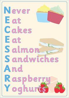 Mnemonic Poster: Necessary