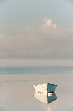 Serenity in the world - Row Boat reflected in Still Water by GaryRadler Art Et Nature, Boat Art, Boat Painting, Belle Photo, Art Photography, Photography Aesthetic, Summer Photography, Landscape Paintings, Seaside