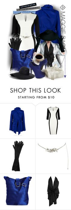 """Be A Lady This Christmas"" by keti-lady ❤ liked on Polyvore featuring Seventh Generation, Ted Baker, Alaïa, Coast, Cheap Monday, ankle boots, black and white, long gloves, dresses and belts"