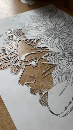 Zantangle Art, Texture Painting On Canvas, Indian Art Paintings, Cool Art Drawings, Diy Canvas Art, Leaf Art, Kirigami, Pattern Art, Diy Painting